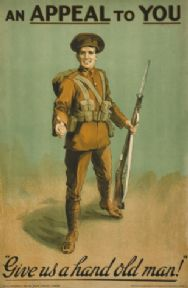 "Vintage Irish WW1 ""An appeal to you"" poster."